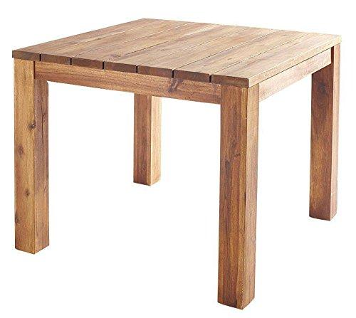 GRASEKAMP Qualität seit 1972 Holz-Tisch 90x90cm Natur Esstisch Gartentisch Gartenmöbel Akazie