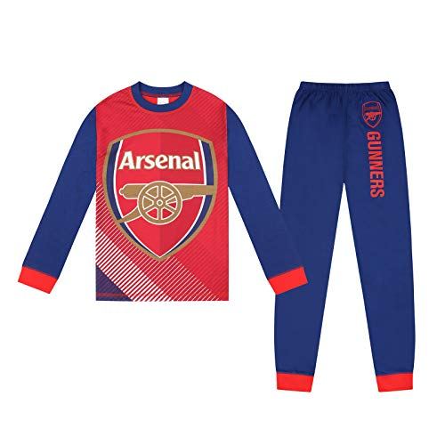 Arsenal FC Official Football Gift Boys Sublimation Long Pyjamas 9-10 Years Blue