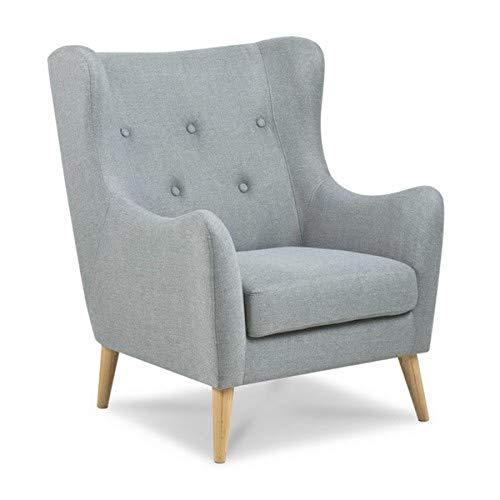 AC Design Furniture Sessel Karin, B: 84 x T:89 x H: 105 cm, Stoff, Grau