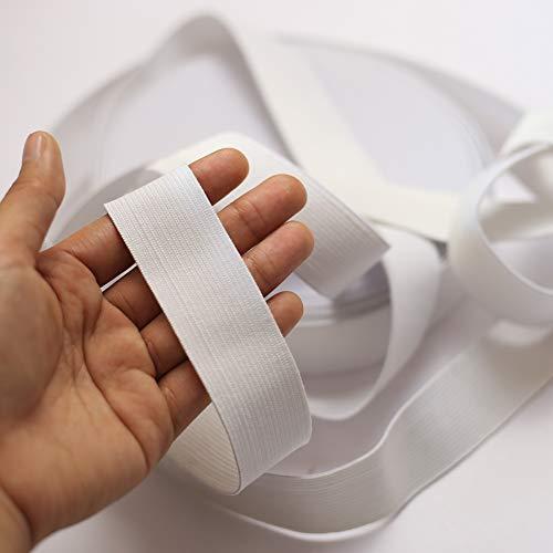 DAHI Gummiband 20 Meter Elastisches Band breite 3cm Wäschegummi Gummizug Gummilitze (20meter/3cm Weiss)
