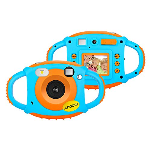 Andoer WiFi Kids Digital Camera Children Creative Camera 5MP 1080P HD Shockproof Mini Video Camcorder 1.77 Inch Color LCD Display WiFi Real-time Share Special Photo Effects and Lens