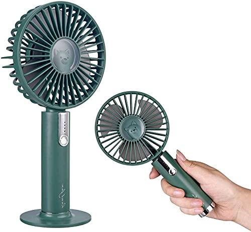 Mini ventilador portátil, ventilador USB recargable de mano con ajuste de volumen de aire de 3 etapas, ventilador de escritorio o portátil para oficina
