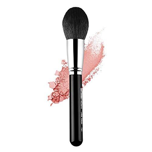 Miel Pinceau Poudre Maquillage Cheveux Noirs Brosse de toilettage Professionnel Pinceau Poudre Forme Rond Débutant Nature