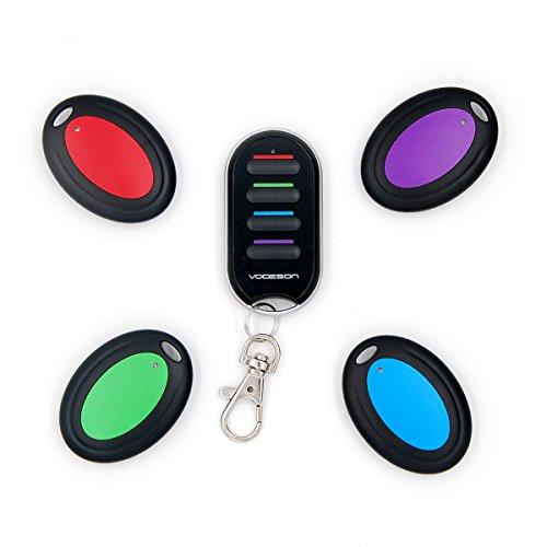 Localizador de llaves inalámbricas localizador de radiofrecuencia localizador de llaves billetera localizador(4 receptores)