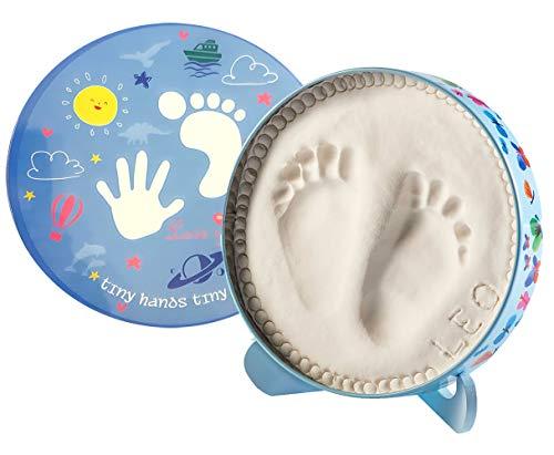 Brigamo Baby Gipsabdruck Geschenk Set für Handabdruck & Fußabdruck Abdruckset für Kinder