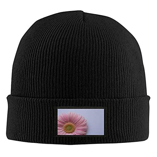 Fondo Textura Flores Rosa Gerbera Daisy Mujeres Ponytail Beanie Hat Knit Invierno Cálido Desordenado Bun Hat Cap Stretch Crochet Hecho a Mano Beanie para Mujeres Señoras