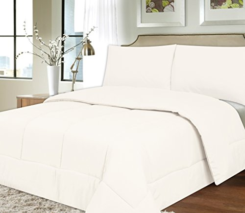 Sweet Home Collection Down Alternative Polyester Comforter Box Stitch Microfiber Bedding - Full, White