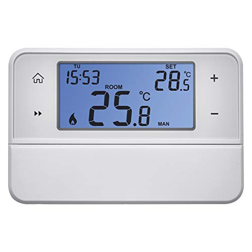 EMOS Termostato digital de ambiente con soporte OpenTherm, programable para sistemas de calefacción y refrigeración, termostato de cable / regulador de temperatura ambiente para montaje en superficie.