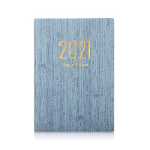 A5 Kalender 2021, iNeego Terminkalender 2021 Planer A5 Wochen- und Monatsplaner Tagebücher Organizer Notizbuch Terminkalender Tagesplaner Personal Organizer Notizbuch 200 Seiten Tagesplaner(Blau)