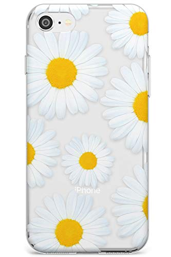 Case Warehouse Daisy Summer Slim Funda para iPhone 7/8 / SE TPU Protector Ligero Phone Protectora con Patrones Lindo Flor Patrón Verano