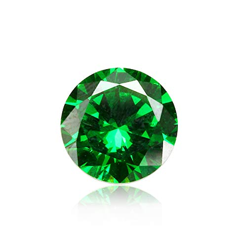 MYAMIA 8mm 3.15Ct Natural Mined Green Emerald Round Cut Vvs Loose Gemstone Jewelry Decorations