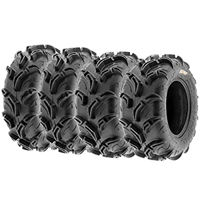 Set of 4 SunF ATV Mud Trail Tires 25x8-12 and 25x10-12, 6 Ply A048
