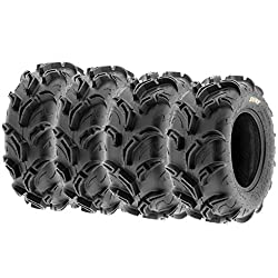 top rated SunF Warrior AT Mud  Trail Tire Set of 4 Front 25×8-12 and Rear 25×10-12 ATV UTV Offroad, 6 PR, … 2021