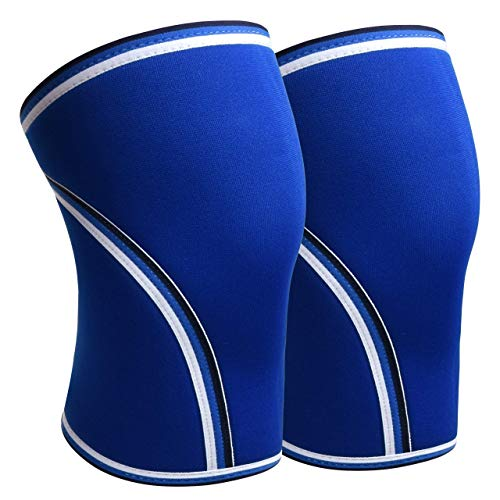 IMUZYN Knee Compression Sleeve 2 Pack Knee Brace for Women Men Neoprene Workout Support Protection Knee Wraps for Running,Weightlifting,Powerlifting & Crossfit Training,Deadlift,Squats