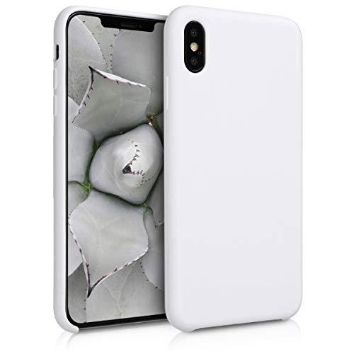 kwmobile Hülle kompatibel mit Apple iPhone XS Max - Hülle Handyhülle gummiert - Handy Hülle in Weiß