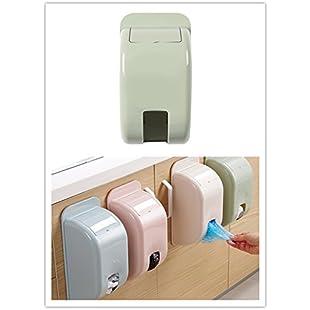 VENMO Home Grocery Bag Holder Organizer Kitchen Plastic Trash Bag Dispenser Wall Mount Saving Spaces (Green):Lidl-pl