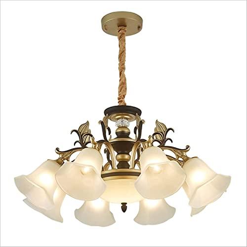 ZZZHS China Estilo Vintage Colgante lámpara Metal lámparas Colgantes de Altura lámpara de artesanía Ajustable Adecuado for Restaurante, Loft, Sala de té Vintage Casazo Luz de suspensión