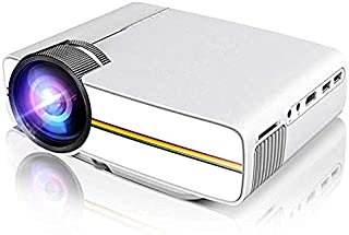 """HYS Portable Projector Support 1080P 1200 Luminous Efficiency 150"""" for Outdoor Indoor Movie Night, Support Blu-ray DVD Player, Laptops, Tablets, Smartphones and HD Games (YG400 White)"""