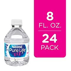 8 ounce resealable plastic bottled water perfect for kids, and small enough to easily fit in lunch bags, backpacks, and purses 24 pack for stocking the pantry without taking up too much space and keeping on hand to pack with lunch With no calories an...