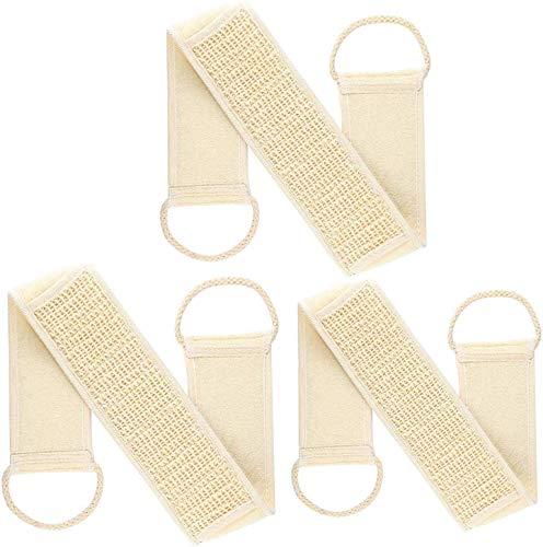 GCOA 3PCS Loofah Esponjas Loofah Esponja Espalda Scrubber Pad Exfoliante Corporal Set para baño y Ducha