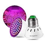 Urisgo Bombilla LED para cultivo de plantas, E27, lámpara de cultivo para el crecimiento LED, panel espectro para interiores, invernadero, cultivo hidropónico