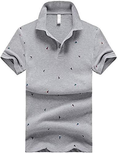 [ Smaids x Smile (スマイズ スマイル) ] ポロシャツ トップス 半袖 柄 ボタン 襟付 シンプル ゴルフウェア ラウンド 革命 フィット ペットボトル スリム ポケッツ チャック シンプル14 ボクサー ファッション 英語トーク ヘンリーネック サンダル ピンク スウェットシャツ ソファ ドライ ブルー ニットキャップ エマール ベビー メンズ (グレー, XXL)
