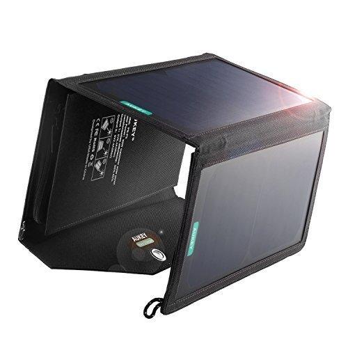 AUKEY Solarladegerät 20W Dual USB Ports Maximal Output 3.1A für iPhone iPad und andere Geräte
