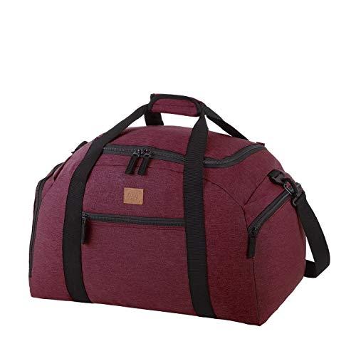 Rada Reisetasche Discover M 40 Liter Volumen, Wasserabweisende Sporttasche für Jungen und Mädchen, Reisetasche perfekt für den Kurzurlaub für Damen und Herren (Bordeaux 2 Tone Cognac)