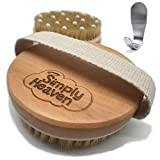 Simply Heaven Wet Dry Skin Body Brush with Natural Bristles, Remove Dead Skin