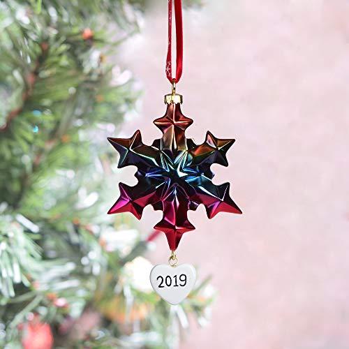 BCSmyer Christmas Snowflake MultiColor Ornaments 2019Metalic Annual Edition 2019 Christmas Ornaments SnowflakeA