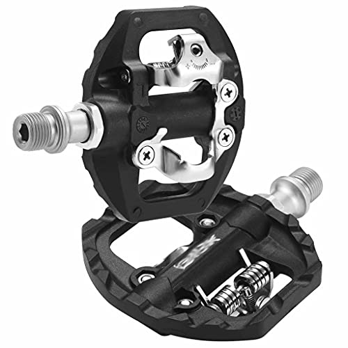 FSJD Bike Pedals Sealed Bearing, Non-Slip Lightweight for Mountain Road city Folding Bicycle Pedals,Black,8.2cm×10.7cm