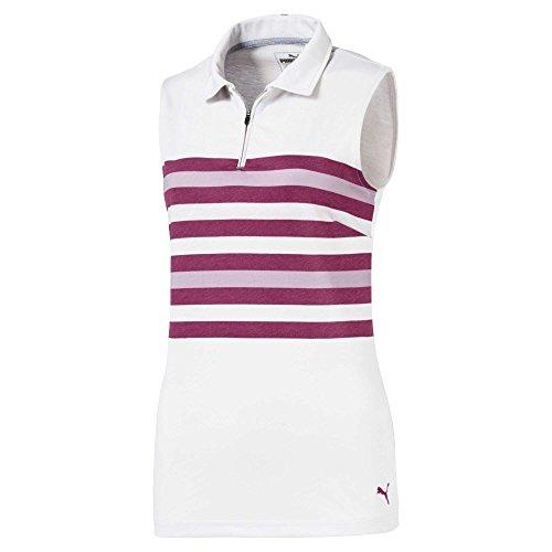 PUMA Femme 576157 Road Map T-Shirt sans Manches, Petite, Magenta Haze Polo, Femme, 576157, Magenta Haze, x-Large