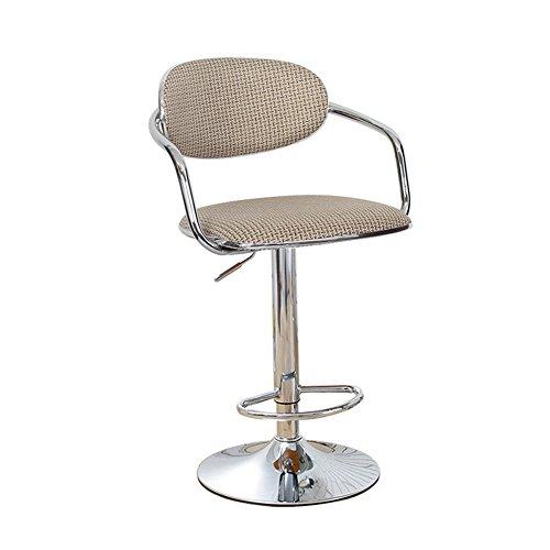 Chaise pivotante Tabouret de bureau Tabourets à roulettes, Lin Hauteur ajustable, rotation de 360 degrés, 6 couleurs (Couleur : 6, taille : 38.5cm)