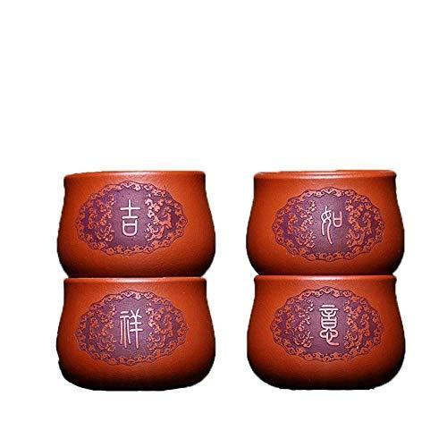 KANJJ-YU Pequeño Boutique Hecho a Mano Copa Kung Fu Masters Cup Yixing la Taza de té Taza pequeña de Buena Suerte Tetera