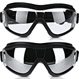 2 Pieces Dog Goggles Dog Sunglasses Snowproof Windproof Dog Glasses Pet Goggles Dog Eye Protection Goggles with Adjustable Strap Sunglasses for Medium Large Dogs