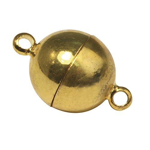 Rayher 2224189 Magnetschließe, extra stark, 10mm ø, vergoldet