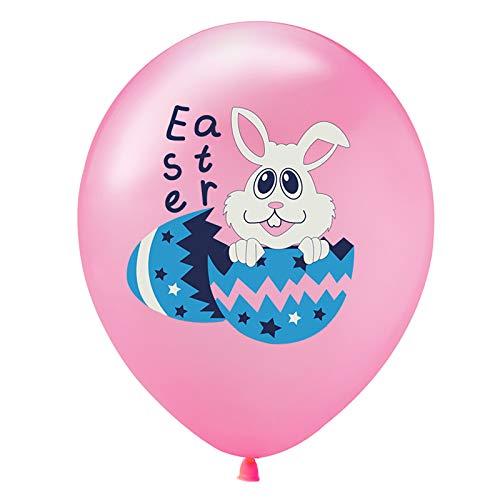N\A Ostern schöne Hase Luftballons 3D-Druck Osterei Osterhase Gemustert Balloons Billig süß Festivalballoons für Ostern Dekoration 10er Set