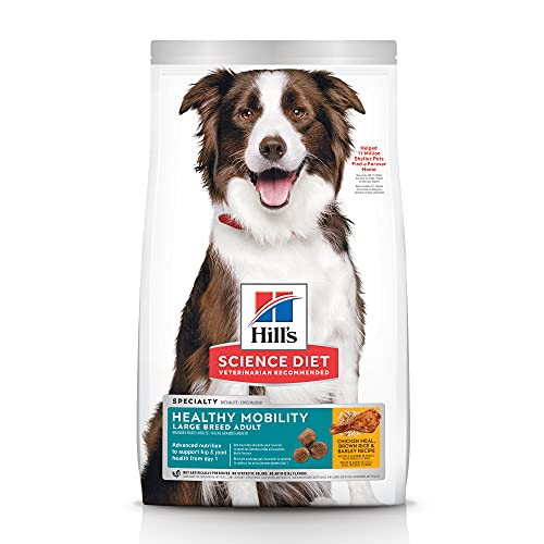 Hill's Science Diet Dry Dog Food, Adult, Large Breed, Healthy Mobility for Joint Health, Chicken Meal, Brown Rice & Barley Recipe, 30 lb. Bag