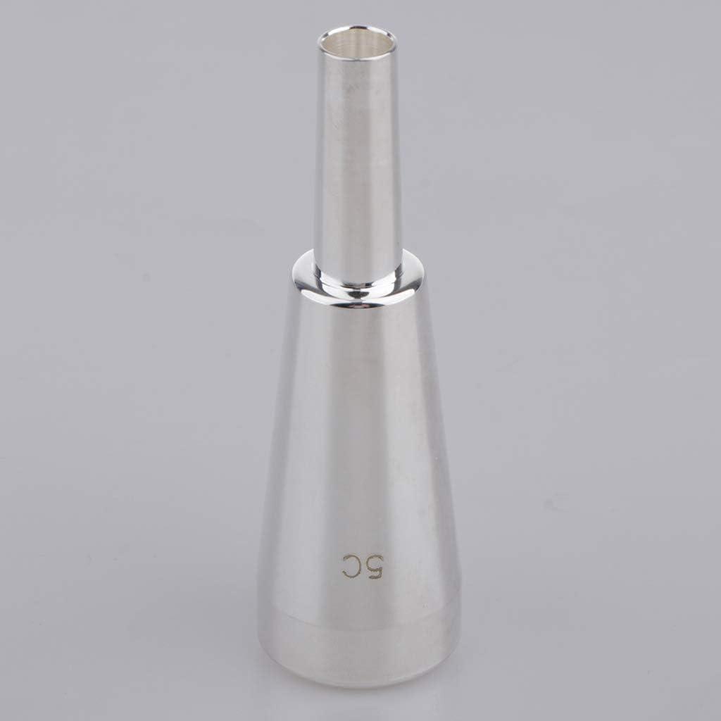 Shiwaki Accessoires Professionnels pour Instrument de Musique pour Embouchure de Trompette 5C argent