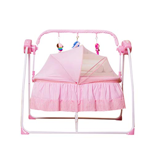 Xiao Jian- Lit de bébé Multifonctionnel pour bébé avec Shaker électrique Chaise berçante bébé (Couleur : Pink)