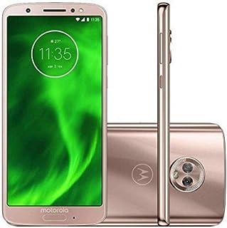 """Smartphone Motorola Moto G6 Ouro Rosê DualChip 64GB Tela 5.7"""" Câmera Dupla 12MP e 5MP"""