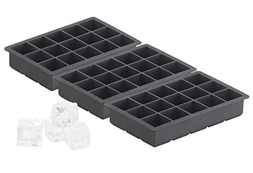 PEARL Silikonform Eiswürfel: Silikon-Eiswürfelform für 15 kleine Würfel 3x3x3cm, 3er-Set je 500ml (XXL Eiswürfel-Bereiter)