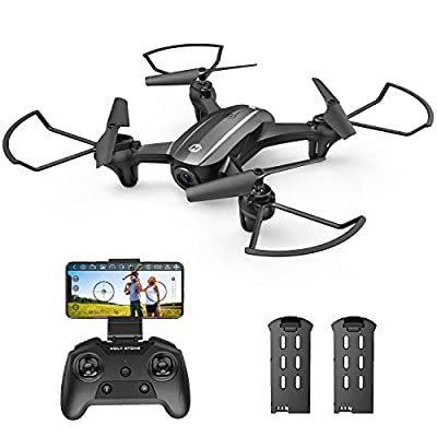 Holy Stone HS340 Mini Drone with 720P Wifi FPV Camera for Kids Adults, RC Quadcopter with Throw to Go, Circle Fly, Auto Rotation, Gesture/Voice Control, Waypoint Fly, 3D Flips, Fun Toy for Boys Girls