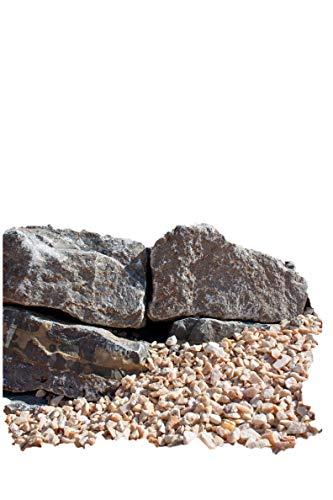 Muschelkalk Mauersteine maschinengespalten, 8-15/15-25/30-50 cm, 250 Kg im Big Bag