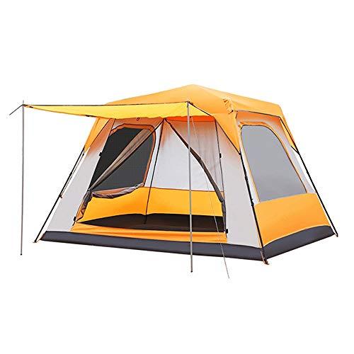 HHUT Pop-Up-Zelte - Pop Up Zelt for 5 bis 8 Person der automatischen Öffnen Upright Begehbare übergroßen Wasserdichten Family Camping Zelt mit Veranda - 315x285x210cm (Color : C)