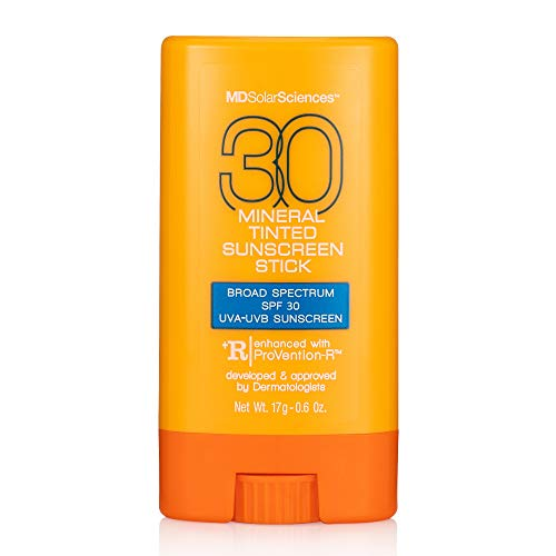 MDSolarSciences Mineral Tinted Sunscreen Stick SPF 30 - Oil-Free Formula, UVA-UVB Protection - Zinc Oxide - 80 Minutes of Water Resistance - 0.6 oz.