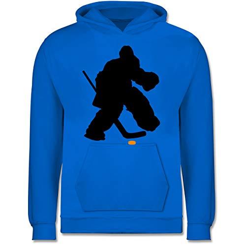 Sport Kind - Eishockeytorwart Towart Eishockey - 152 (12/13 Jahre) - Himmelblau - Eishockey Geschenke - JH001K JH001J Just Hoods Kids Hoodie - Kinder Hoodie