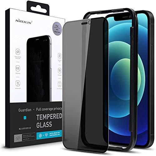 Nillkin - Protector de pantalla de cristal templado compatible con iPhone 12/12...