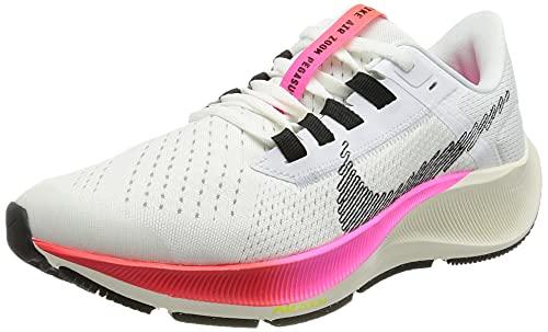 Nike Air Zoom Pegasus 38, Zapatillas de Gimnasio, White/Black-Football Grey-Pink Blast, 35.5...