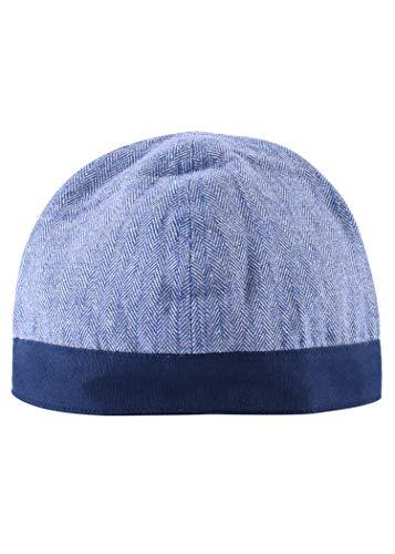 Battle-Merchant Wikinger Birka Kappe mit Fischgrätmuster - Mittelalter LARP Mütze Hut Kopfbedeckung Haube (Blau, XL)
